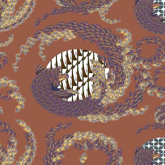 Thumbnail Motif Batik Fractal Mozilla Cokelat Ungu