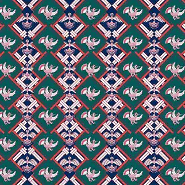 Thumbnail Motif Batik Fractal Sawat Jumeneg Hujau Ungu