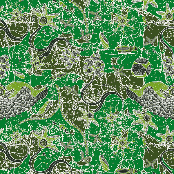 Thumbnail Motif Batik Fractal Megar Gepak Hijau