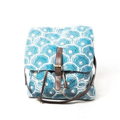 Blue Scale Batik Fractal Backpack