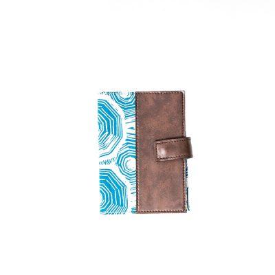 Blue Scale Half Leather Notepad Batik Fractal Merchandise