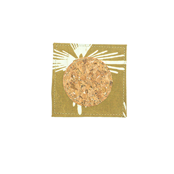 Mustard Bintang Gemintang Coaster Batik Fractal Home Decor
