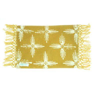 Mustard Bintang Gemintang Placemat Batik Fractal Home Decor