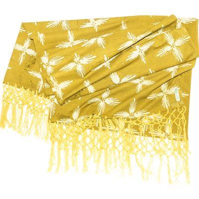 Mustard Bintang Gemintang Sofa Throw Batik Fractal Home Decor