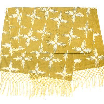 Mustard Bintang Gemintang Table Runner Batik Fractal Home Decor