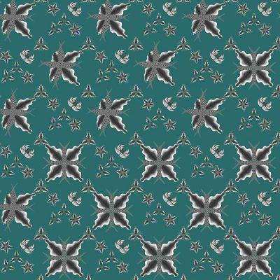Thumbnail Motif Batik Fractal Ceplokan Geleng geleng Hijau