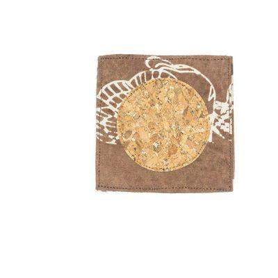 Brown Elang Melayang Coaster Batik Fractal Home Decor