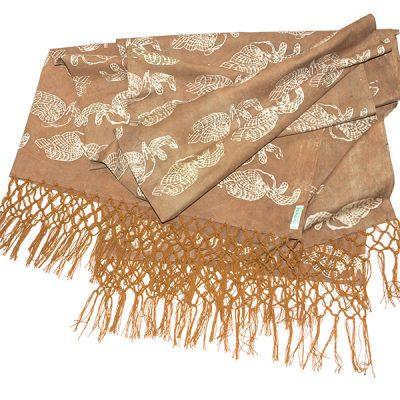 Brown Elang Melayang Sofa Throw Batik Fractal Home Decor