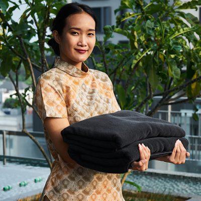 Cream Sisik Waton Short Sleeve Woman Batik Fractal Uniform