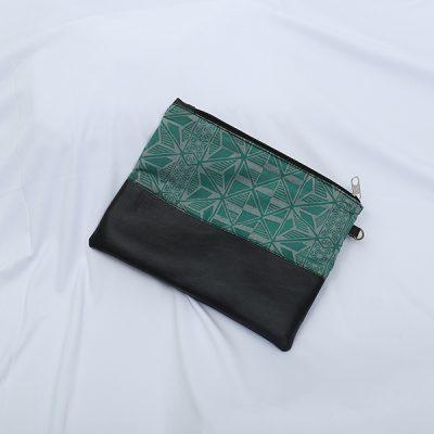 Green Gendhaga Baron 5 Pouch Batik Fractal Merchandise