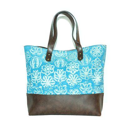 Blue Kembang Setaman Maura Bag 3 Batik Fractal Fashion