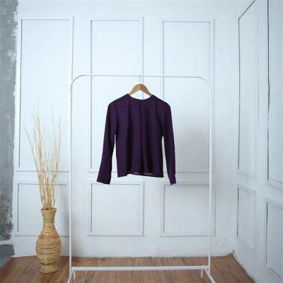 Purple Sisik Siki Long Shirt 1 Batik Fractal Unform