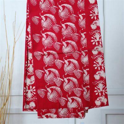 Kain Red Sawunggaling Bidhawur Batik Fractal