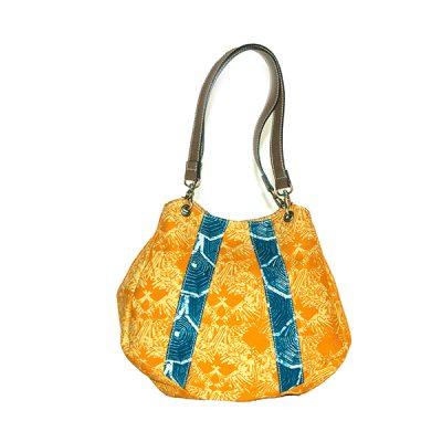 Kuning Biru Sayap Naga Boho Bag 1 Batik Fractal Fashion