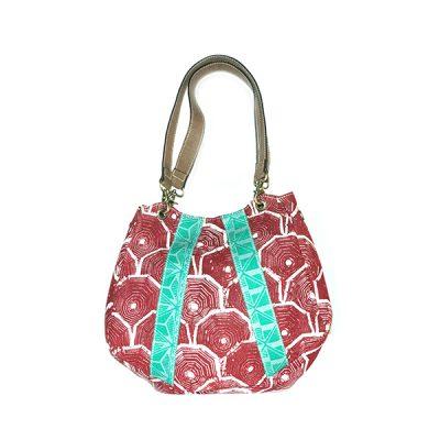 Batik Fractal Sisik Boho Bag 1 Merah Tosca