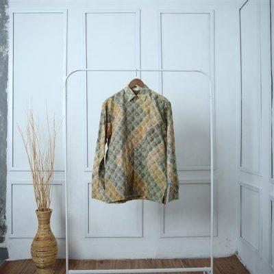 Cream Sisik Waton Long Sleeve Shirt 1 Batik Fractal Uniform