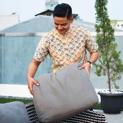Cream Sisik Waton Short Sleeve Shirt 4g Batik Ffractal Uniform