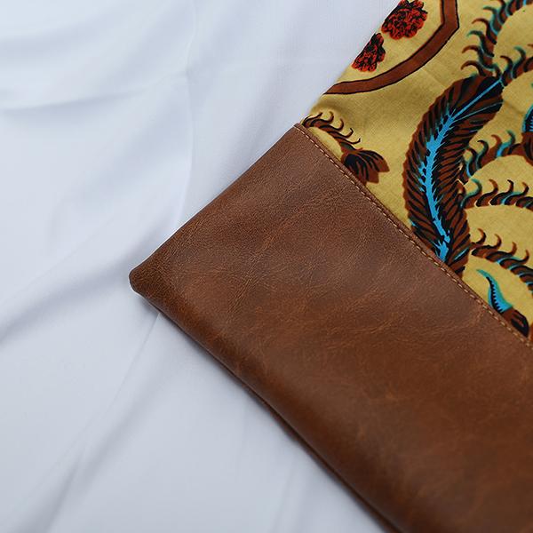 Brown Sulur Bidho Sidi Laptop Sleeve 6 Batik Fractal Merchandise