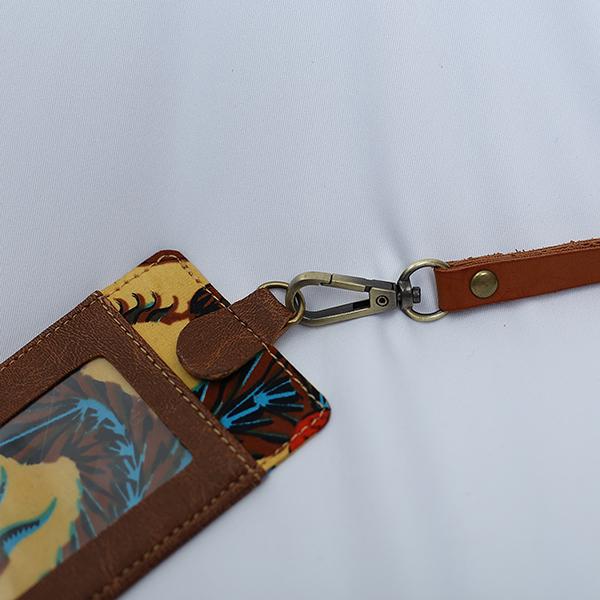 Brown Sulur Bidho Sidi LUGGAGE Tag 1 Batik Fractal Merchandise