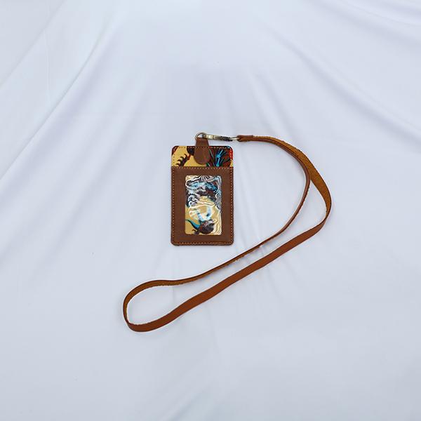 Brown Sulur Bidho Sidi LUGGAGE Tag 2 Batik Fractal Merchandise