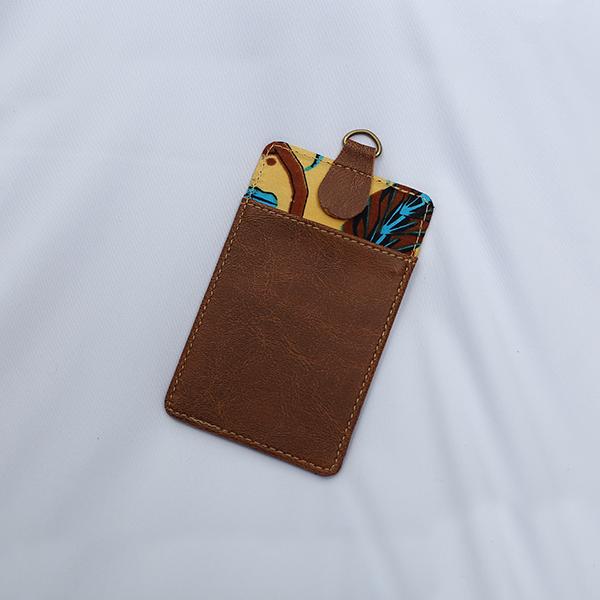 Brown Sulur Bidho Sidi LUGGAGE Tag 3 Batik Fractal Merchandise