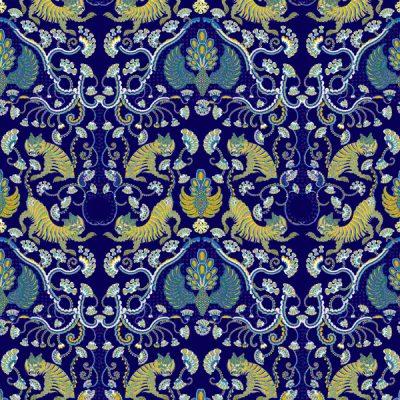 Thumbnail Motif Batik Fractal Alas-alasan Macan Biru