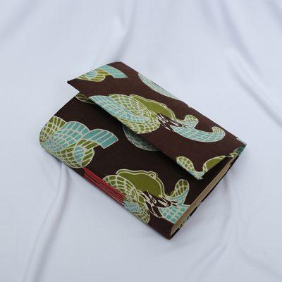 Brown BEDHAK NEPANG NOTEPAD Batik Fractal Merchandise