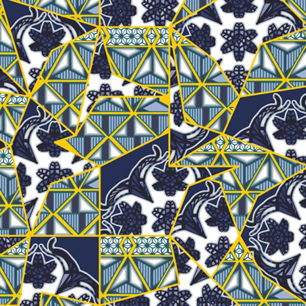 Thumbnail Motif Batik Fractal Kintsugi Keramik Emas Biru