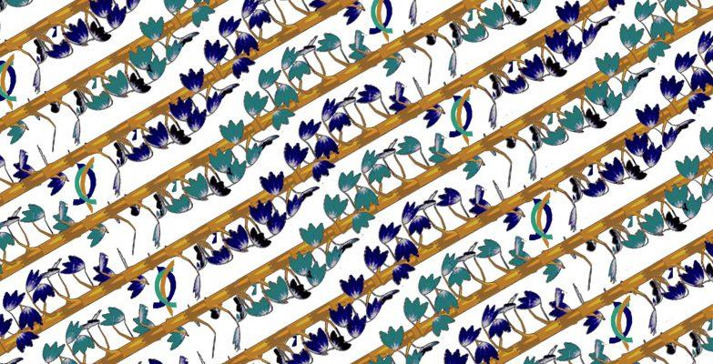 Motif Batik Fractal Patah Tebu Coklat Putih