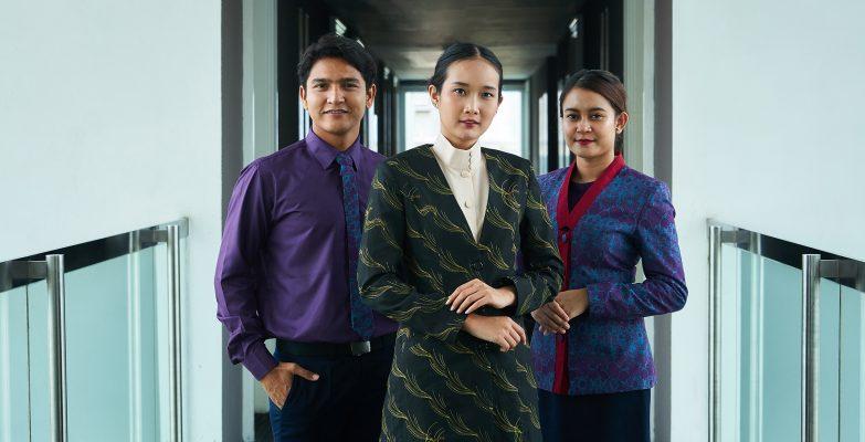 Batik Fractal Seragam Batik Banner Green Padi dan Melik