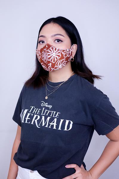 Sekar Lily Batik Fractal Mask Brown