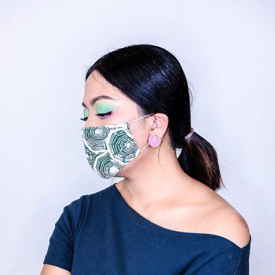 batik fractal mask sisik hijau front