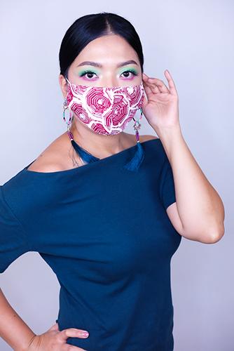 batik fractal mask sisik merah 2