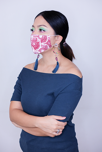 batik fractal mask sisik merah 3