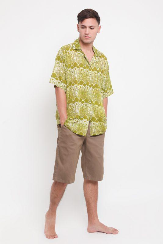 Melik Pepper Batik Fractal Casual Men Shirt 1