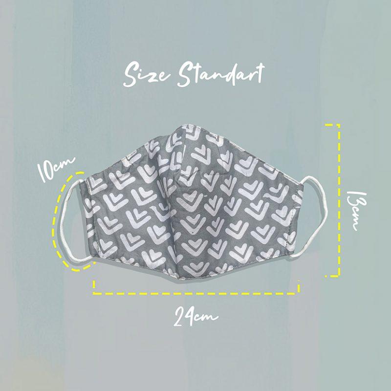 Grey Arrow Batik Fractal Mask Size Standart