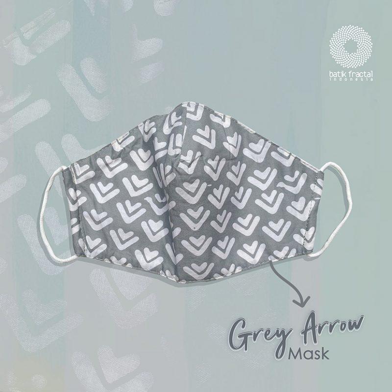 Grey Arrow Batik Fractal Mask