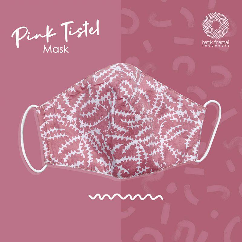 Pink Tistel Batik Fractal Mask