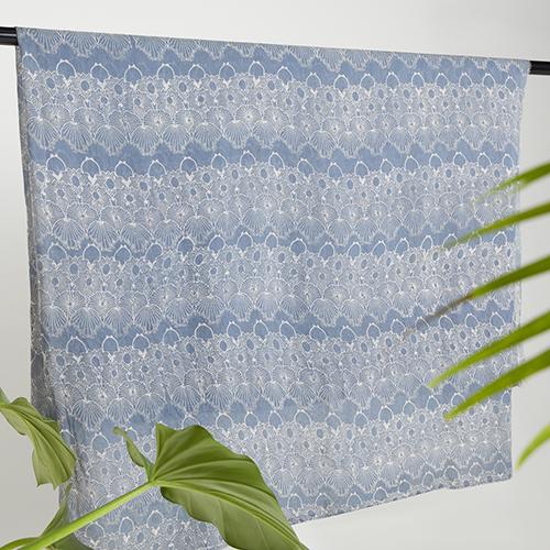Melik Pewter Gray Tansilk Batik Fractal Textile 3