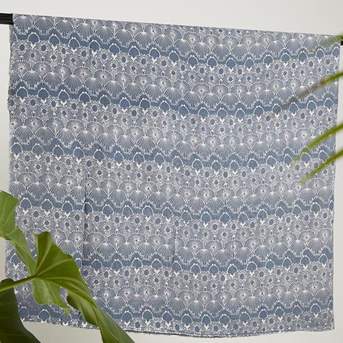 Melik Steel Gray Paris Batik Fractal Textile 3