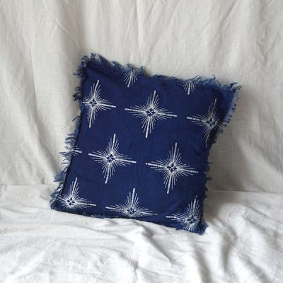 blue star square cushion Batik Fractal Home Decor Catalog
