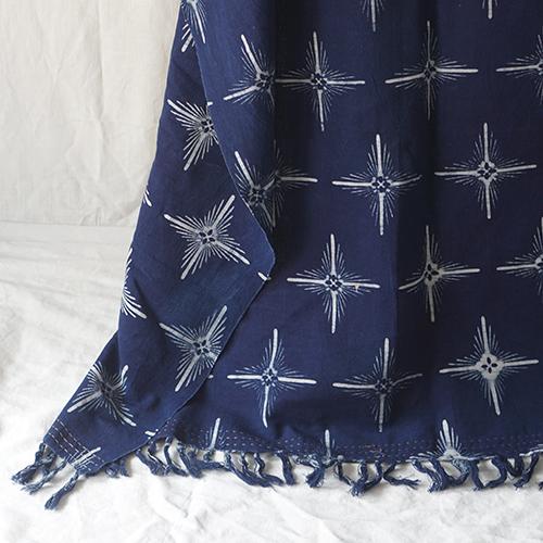 Blue star sofa throw Batik Fractal Home Decor preview