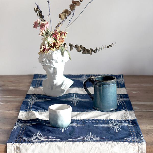 blue table runner 1