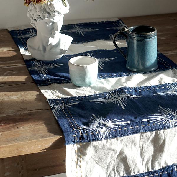 blue table runner 2