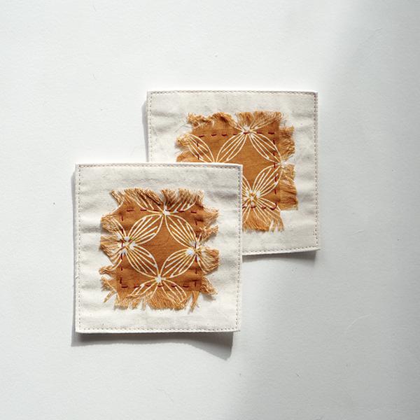 YELLOW COASTER Batik Fractal Home Decor