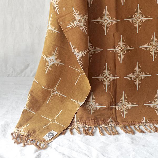 yellow star sofa throw Batik Fractal Home Decor Web