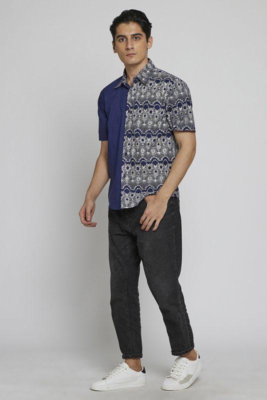 Melik Two Tone Batik Fractal Casual Men Shirt 2-3