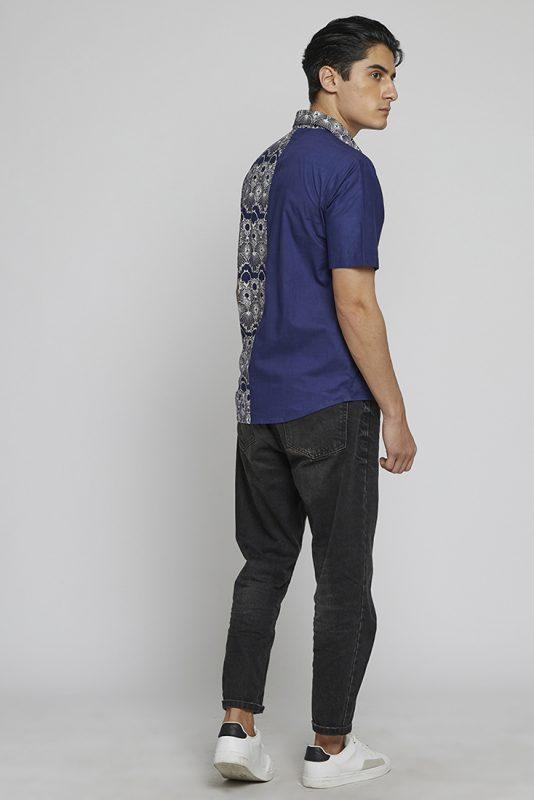 Melik Two Tone Batik Fractal Casual Men Shirt 2-5