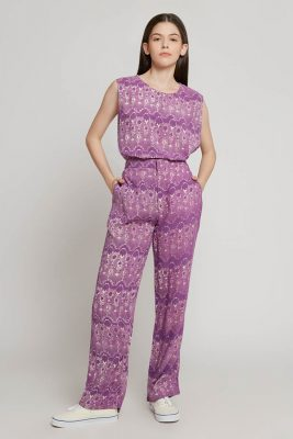Melik Lilac Batik Fractal Casual Women Set