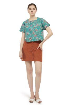 Anggrek Hijau Batik Fractal Casual Women Blouse 5